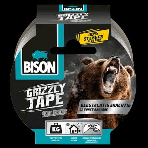 Bison Grizzly tape grijs